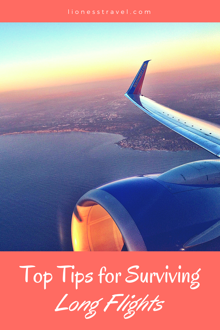 Tips & Trips for surviving a long flight. Everything you need to know to prepare.